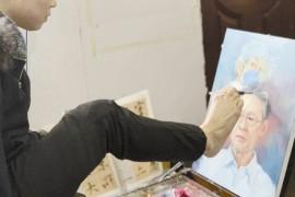 单脚画出缤纷人生-记启东肢残青年画家刘凯健