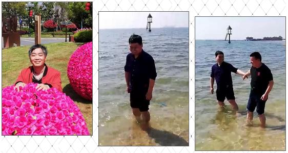 """启东市盲人协会组织""""半日游""""近距离感受大海"""