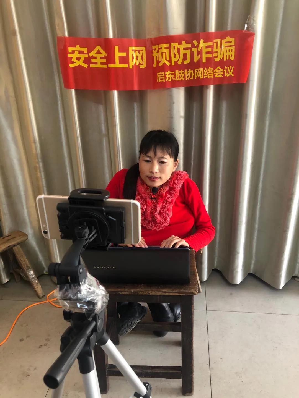 安全上网 预防诈骗-启东肢协举办专题网络会议